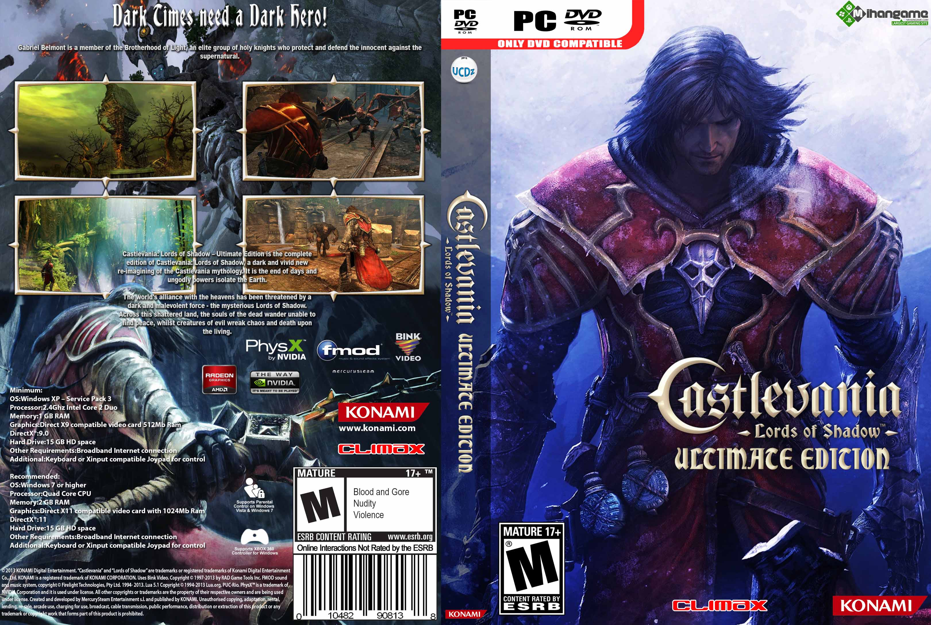 Castlevania lords of shadow ultimate edition free download.